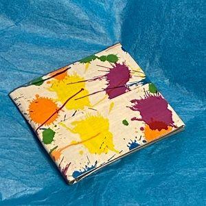 NWOT Paint Splatter Duct Tape Wallet